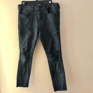 PACSUN STACKED SKINNY DISTRESSED JEANS